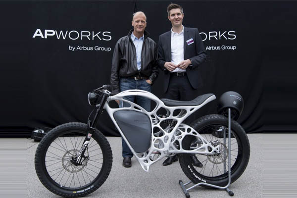 Airbus Produces a 3D-Printed E-Motorbike
