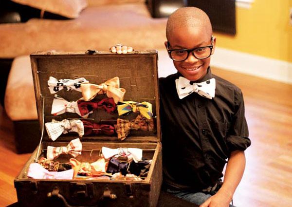 11-Year-Old Fashion Entrepreneur Moziah Bridges behind Mo's Bows