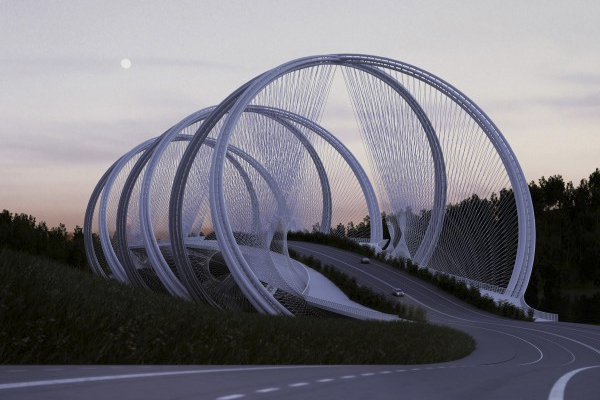 2. The San Shan Bridge Revealed for Beijing Winter Olympics