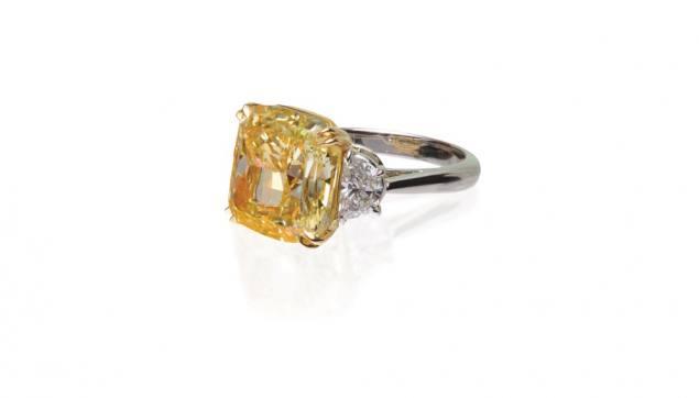 Yellow Diamond Ring by Lugano Diamonds