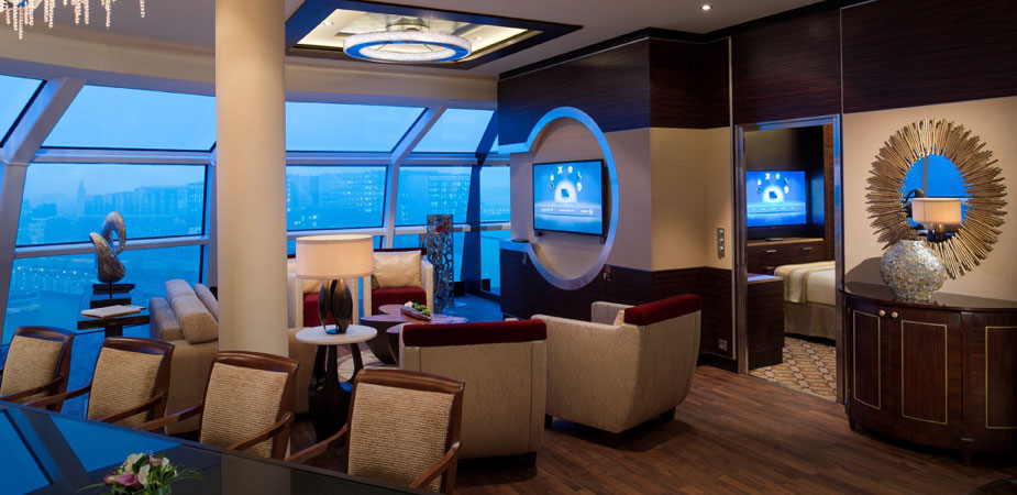 Celebrity cruises launches new luxury suite class for First class cruise ship cabins
