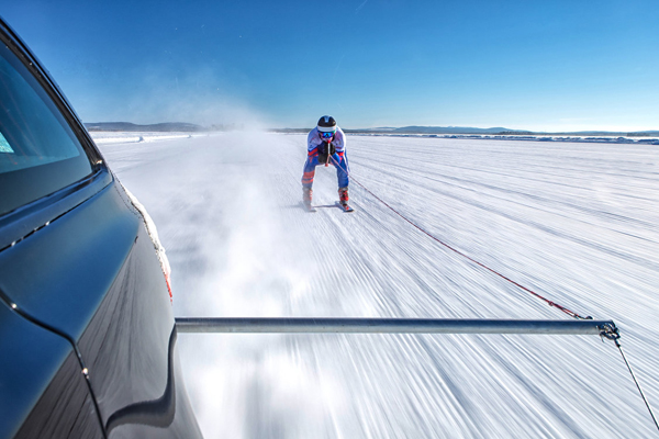 Jaguar Breaks Guinness World Records Title with Olympic Skier