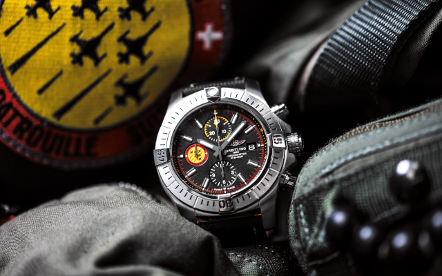 Breitling's New Timepiece Celebrates Patrouille Suisse Air Force Team