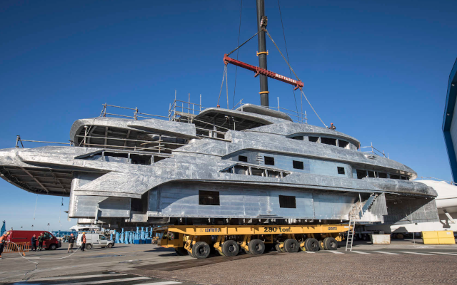 Benetti's 65-Meter Custom Yacht Is Coming Together