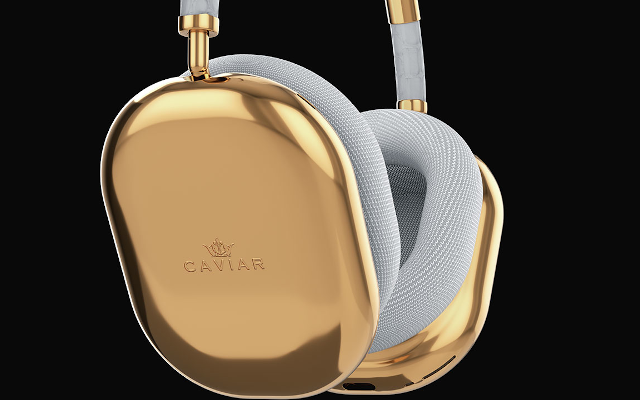 Caviar Reimagines Apple's Airpods In Luxury White Leather & Gold