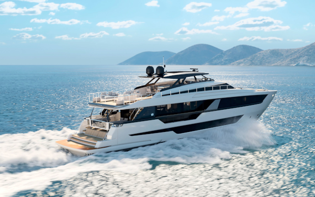Majestic & Versatile: The First Ferretti Yachts 1000 Has Launched In Cattolica