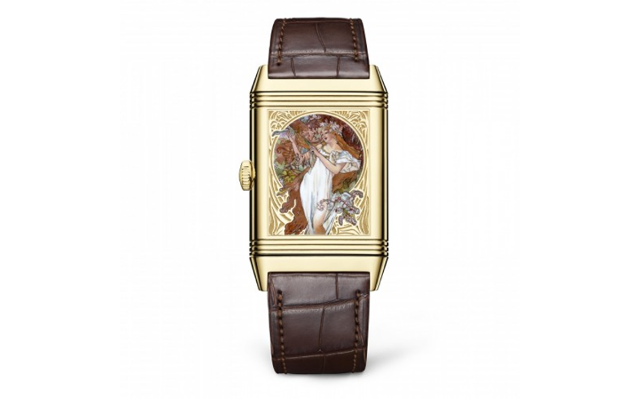 Reverso Tribute Enamel Pays Tribute to Visionary Painter Alfons Mucha